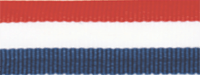 """1 1/2"""" Red, White, Blue Neck Ribbon with Snap Clip"""