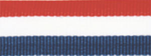"1 1/2"" Red, White, Blue Neck Ribbon with Snap Clip"