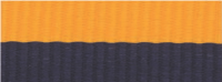 """1 1/2"""" Navy Blue/Gold Neck Ribbon with Snap Clip"""