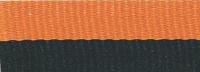 "1 1/2"" Black/Orange Neck Ribbon with Snap Clip"