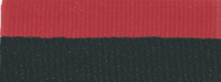 """1 1/2"""" Black/Red Neck Ribbon with Snap Clip"""