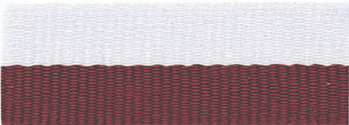 """1 1/2"""" Maroon/White Neck Ribbon with Snap Clip"""