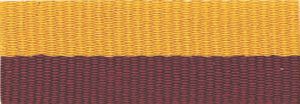 "1 1/2"" Maroon/Gold Neck Ribbon with Snap Clip"