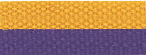 "1 1/2"" Purple/Gold Neck Ribbon with Snap Clip"