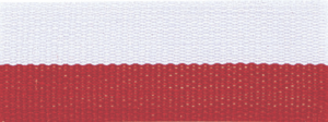 "1 1/2"" Red/White Neck Ribbon with Snap Clip"