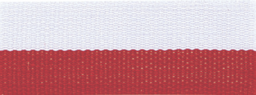"""1 1/2"""" Red/White Neck Ribbon with Snap Clip"""