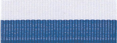 "1 1/2"" Blue/White Neck Ribbon with Snap Clip"