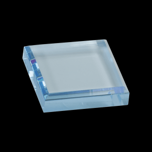 "3"" x 3"" Blue Acrylic Paperweight"