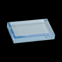 "4 1/2"" x 3 1/2"" Blue Acrylic Paperweight"