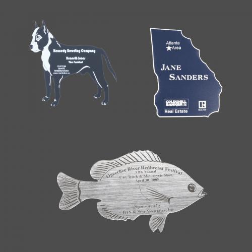 Custom Shaped Engraved Plastic Namebadge