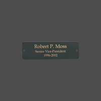 "1"" x 3"" Rectangle Black Brass Metal Name Tag"
