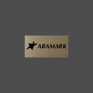 "1 1/2"" x 3"" Rectangle Gold Satin Metal Name Tag"