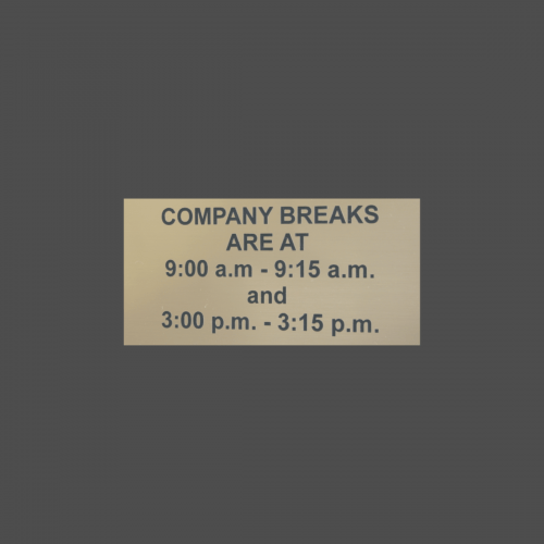 """2""""  x  4"""" Engraved Wall Sign"""