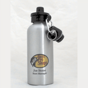 20 oz. Silver Engravable Aluminum Water Bottle