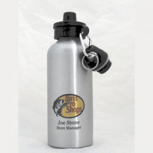 20 oz. Silver Engravable Aluminum Water Bottle