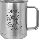 MA6060 – Silver engraved Custom Tumbler 15oz