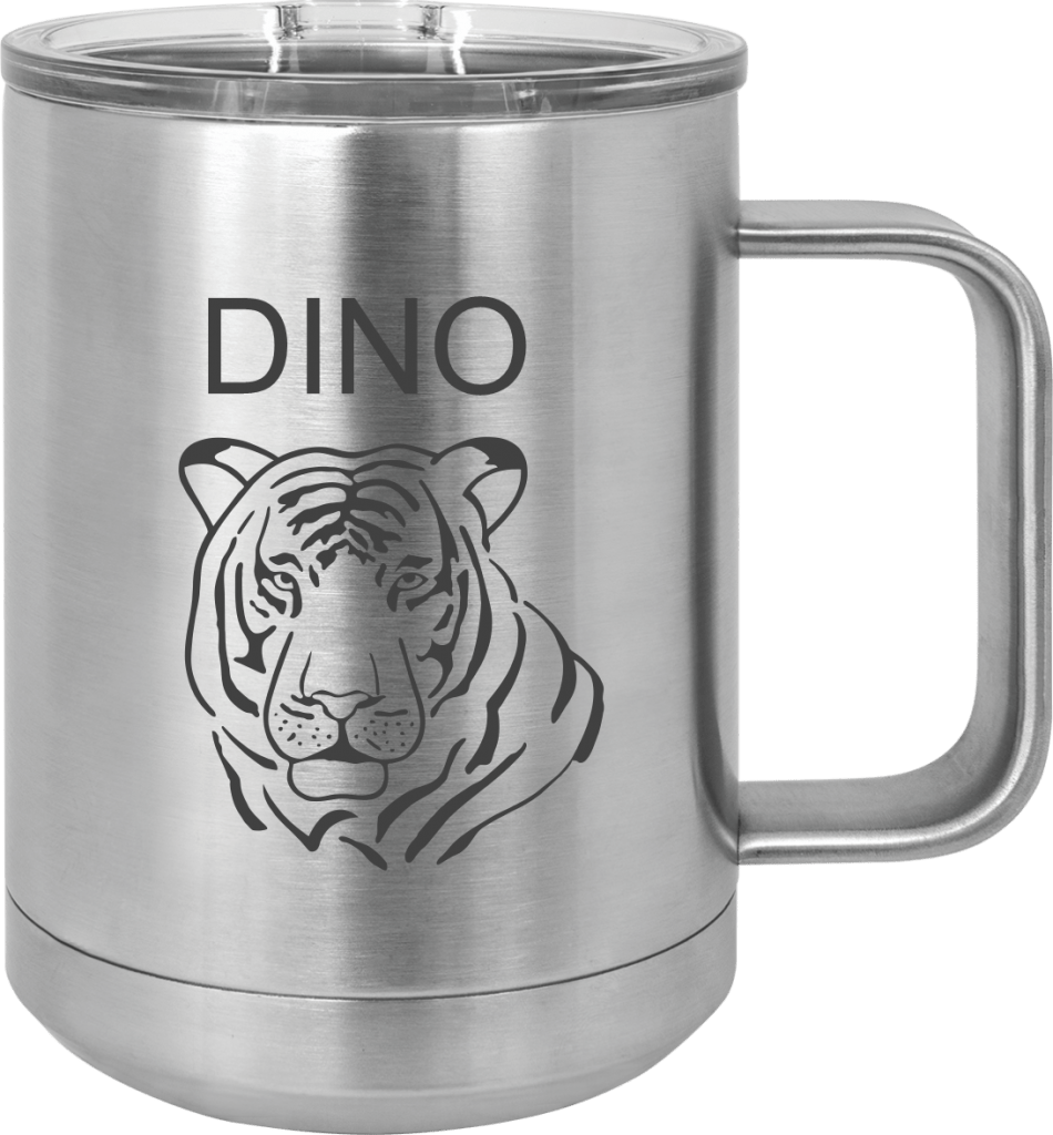 MA6060 - Silver engraved Custom Tumbler 15oz