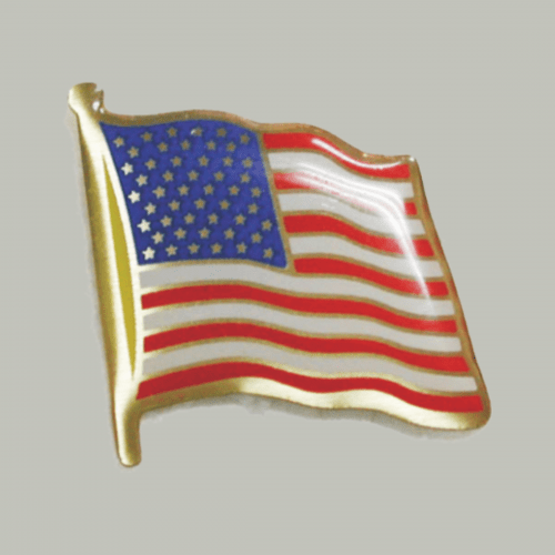 USA Flag Pin with Clutch Back