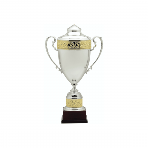 "25 1/2"" Silver with Gold Accent Trophy Cup"