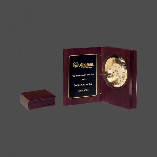 Small Rosewood Book Clock