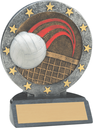"4 1/2"" Volleyball All Star Resin"