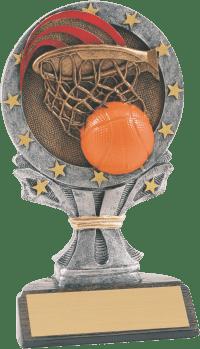 "6 1/4"" Basketball All Star Resin"
