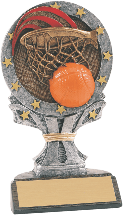 "6 1/4"" Basketball All Star Resin"
