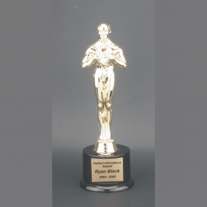"11"" Male Achiever Gold Plastic Trophy"