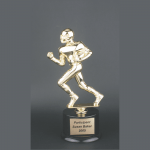 "11"" Male Football Gold Plastic Trophy"