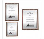 Walnut Finish Plaque w/Black Edge & Silver Silver Plate