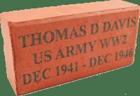Etched Engraved Brick Paver