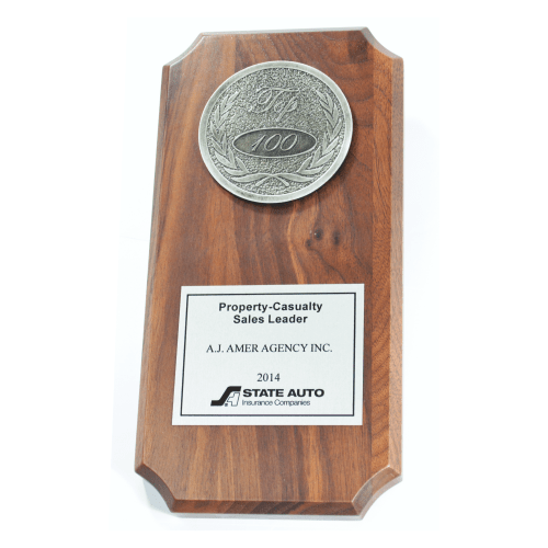 Custom Size Plaque with Medallion