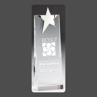 """9"""" Silver Star Crystal Tower (1 Day Rush)"""