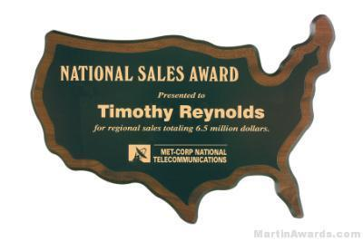 USA Shaped Plaque 1