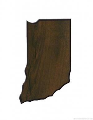 Indiana State Shaped Plaque