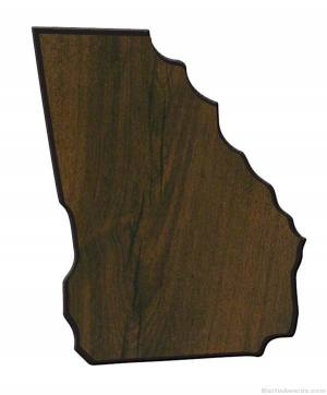Georgia State Shaped Plaque