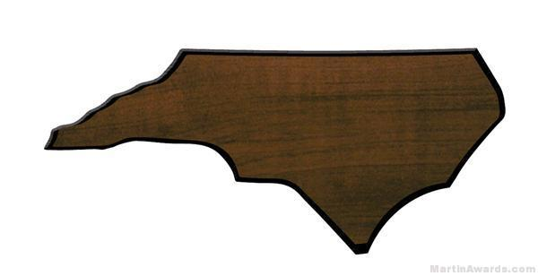 North Carolina State Shaped Plaque 1