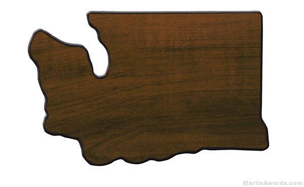 Washington State Shaped Plaque 1