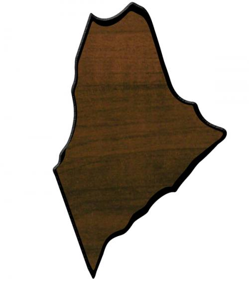 Maine State Shaped Plaque