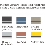 State Shaped Plate Colors for plaques