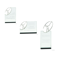 Swinging Golf player Crystal Award