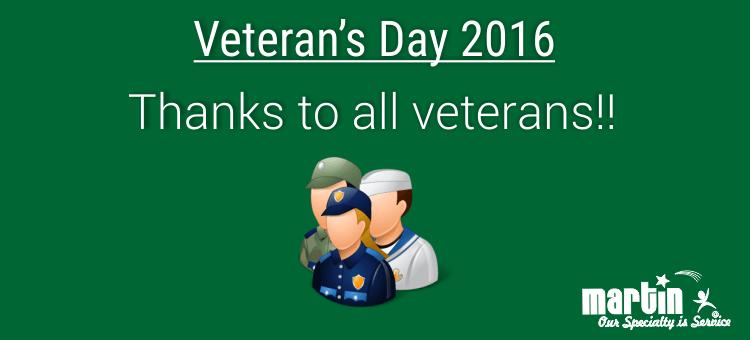 Veteran's Day 2016