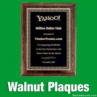 Walnut Award Plaques