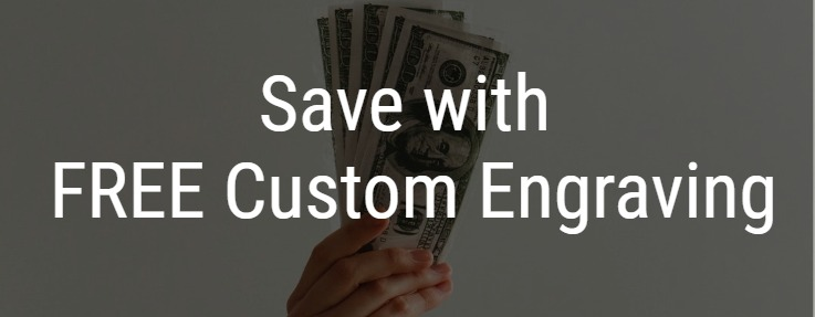 Save with Free Custom Engraving on all award items