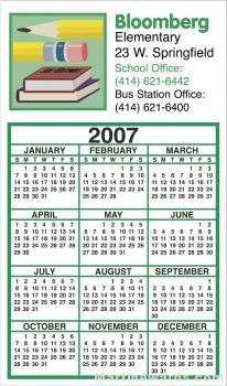 Business Calendar Magnet - Four Color Process