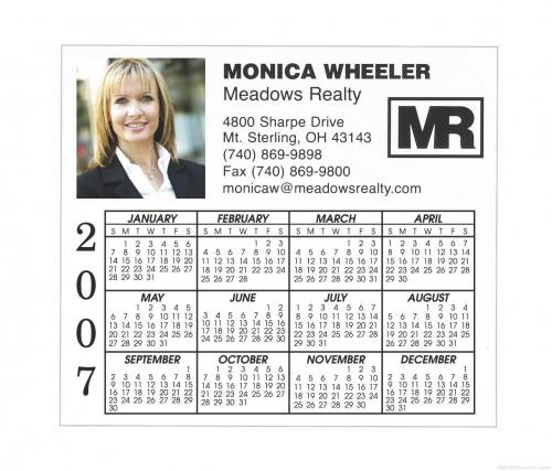 Business Calender Magnet - Four Color Process