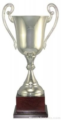 """12-1/2""""  ARG 1000 Silver Plated Trophy Cup"""