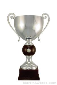 "22-3/4"" ARG 1000 Silver Plated Trophy Cup"
