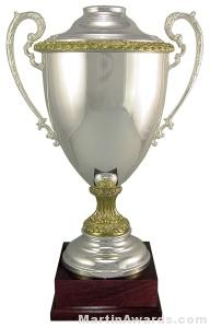 "25-1/8""  ARG 1000 Silver Plated Trophy Cup"