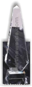 Crystal Glass Awards – 3 1/2″ x 12″ Genuine Prism Optical 1